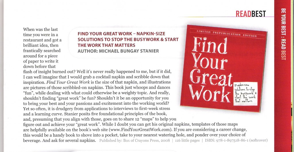 Find Your Great Work review - Workplace Magazine