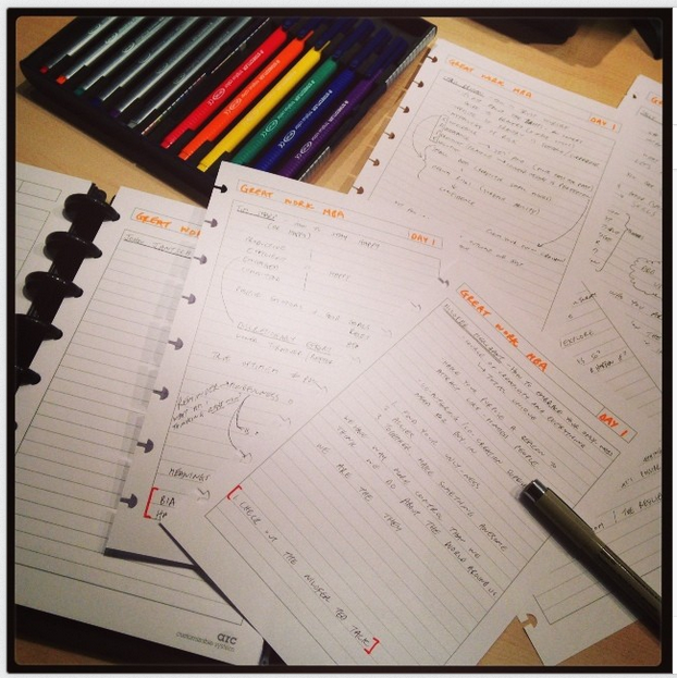 Colour-coded notes