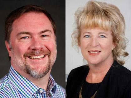 Michael Leckie and Mary Ellen Roghan